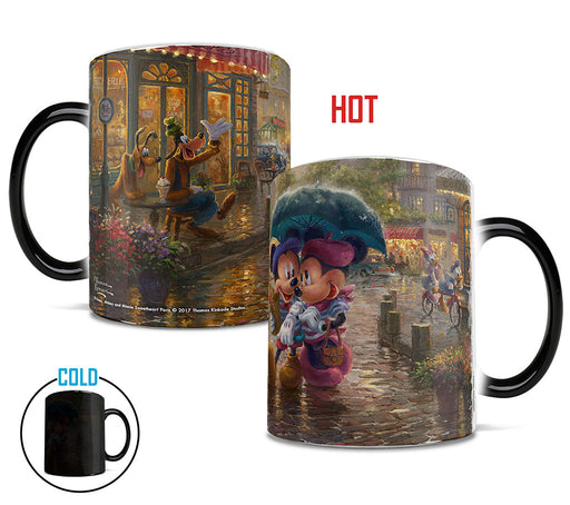 Morphing Mugs Thomas Kinkade Disney (Mickey and Minnie In Paris) Heat-Sensitive Mug
