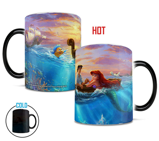 Morphing Mugs Thomas Kinkade Disney (Little Mermaid Falling in Love) Heat-Sensitive Mug