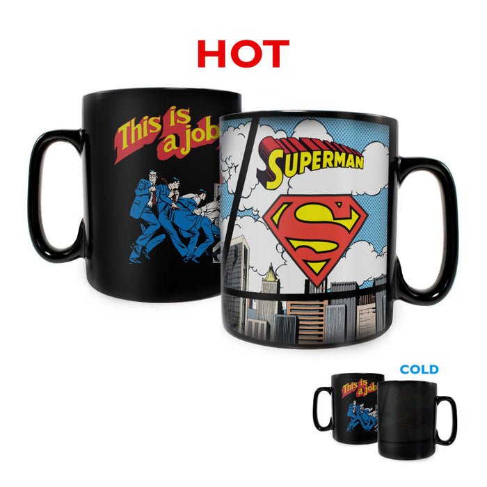Morphing Mugs DC Comics Originals (Superman-Secret Identity) Heat-Sensitive Clue Mug