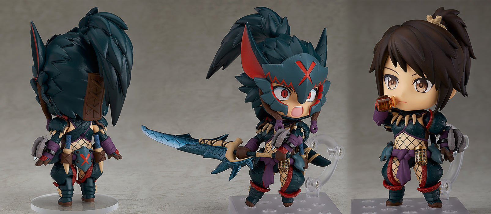 Good Smile Monster Hunter World: Iceborne - Hunter Female Nargacuga Alpha Armor (DX Ver.) Nendoroid