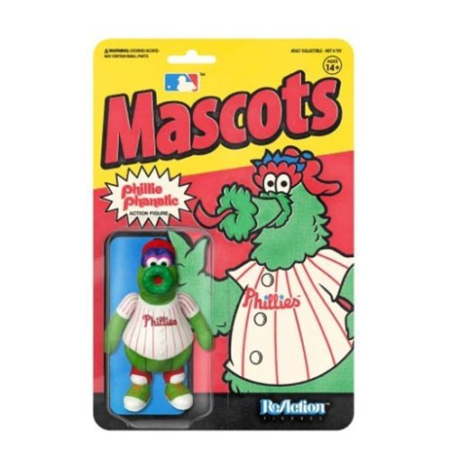 "Super 7 Reaction 3.75"" Action Figure: MLB Mascots - Phillie Phanatic"