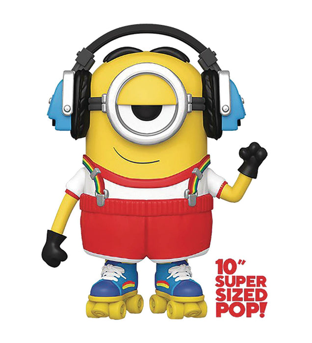 Funko Pop! Movies: Minions 2 - Roller Skating Stuart (10-inch Super-Sized Pop!)