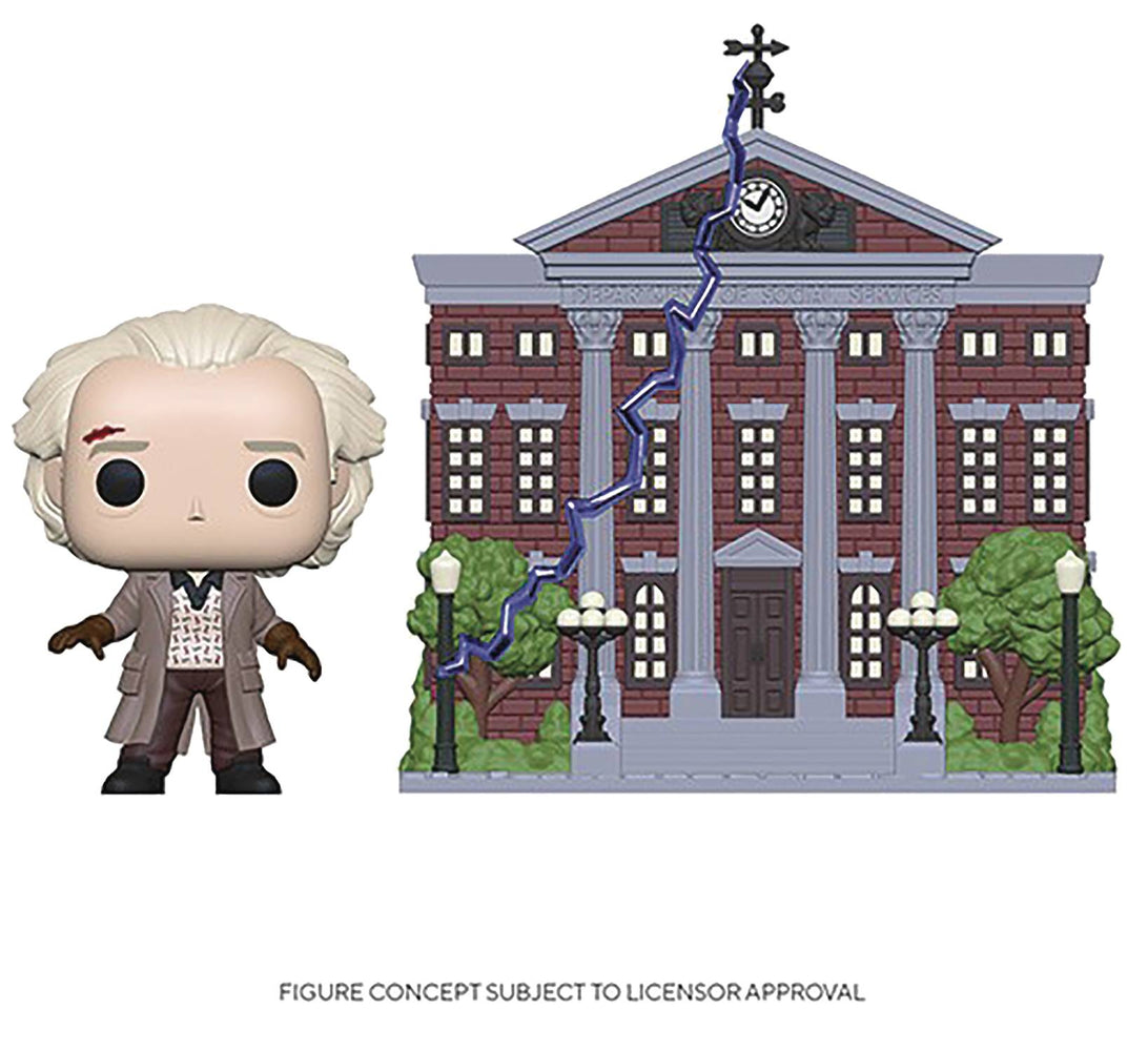 Funko Pop! Town: Back to the Future - The Clock Tower with Doc Brown