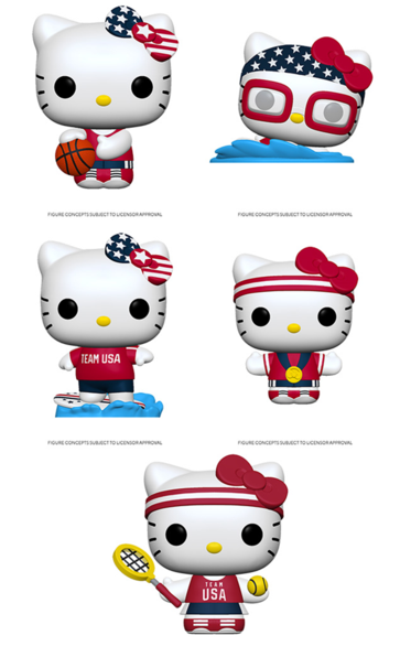 Funko Pop! Sanrio: Hello Kitty Sports (Set of 5)