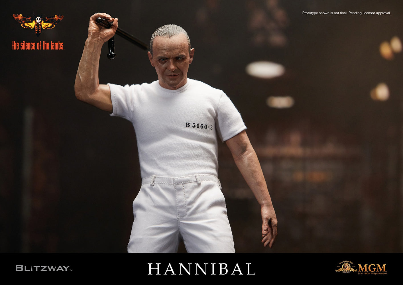 Blitzway Silence of the Lambs: Hannibal Lecter (White Prison Uniform Ver.) 1/6 Scale Action Figure