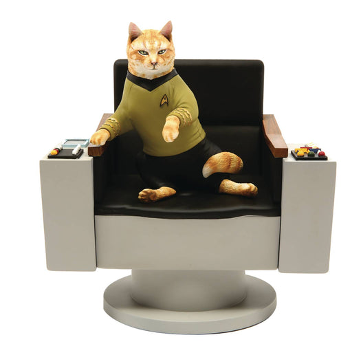 Chronicle Star Trek Cats - Captain James T. Kirk Cat Statue