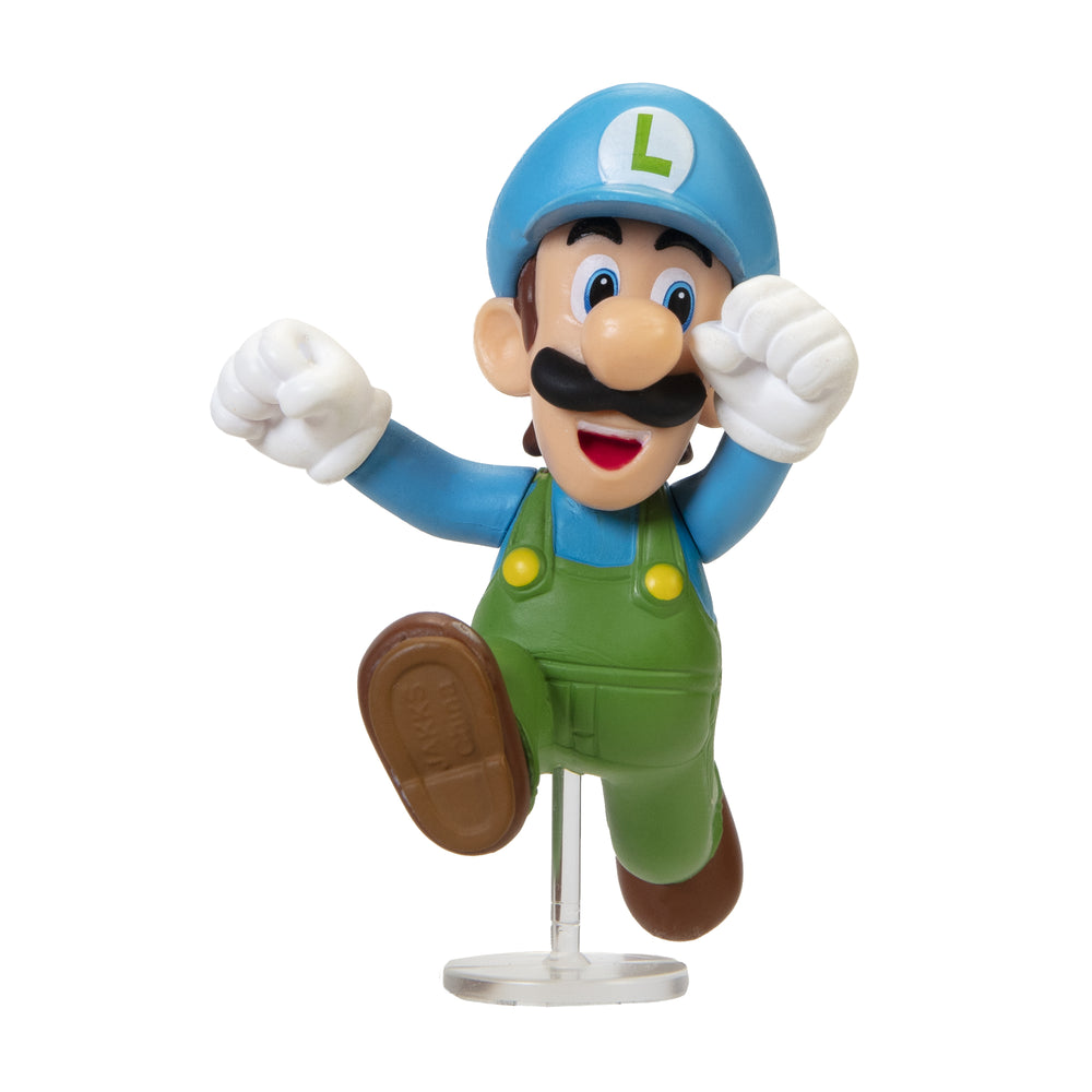 Jakks World of Nintendo: Super Mario 2-1/2 Minifigures (Wave 27) - Ice Luigi