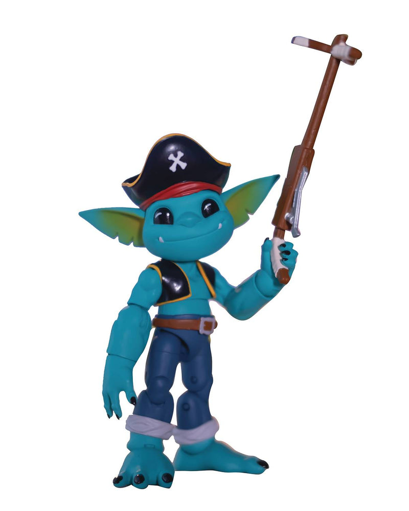 Lone Coconut Plunderlings - Captain Teal Action Figure