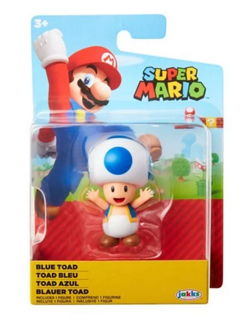 Jakks World of Nintendo: Super Mario 2-1/2 Minifigures (Wave 23) - Blue Toad