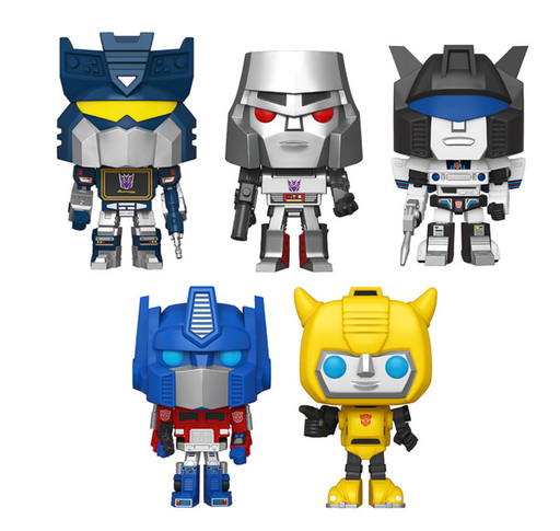 Funko Pop! Retro Toys: Transformers (Set of 5)