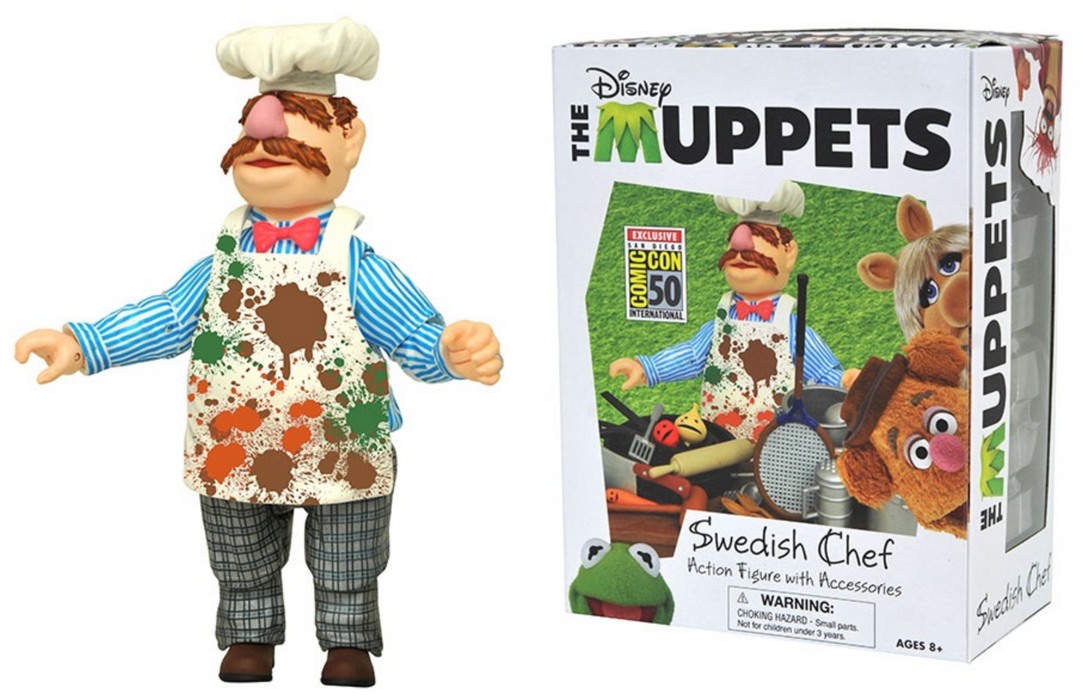 "Diamond Select Toys The Muppets - ""Messy"" Swedish Chef Action Figure Set (2019 SDCC Exclusive)"
