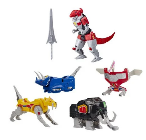 Hasbro Power Rangers Mighty Morphin Dino Megazord Wave 1 Collection (Set of 3)