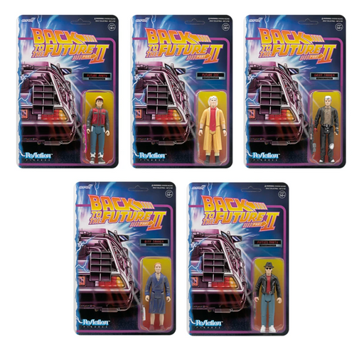 "Super 7 Reaction 3.75"" Action Figures: Back to the Future 2 (Set of 5)"