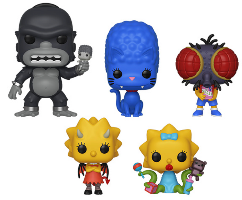 Halloween Simpsons Treehouse Of Horror.Funko Pop Television The Simpsons Treehouse Of Horror Set Of 5