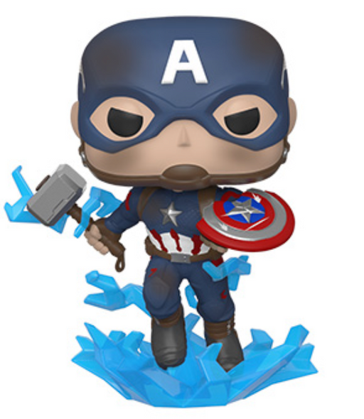 Funko Pop! Marvel: Endgame - Captain America with Mjolnir