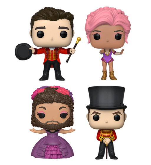 Funko Pop! Moves: The Greatest Showman (Set of 4)