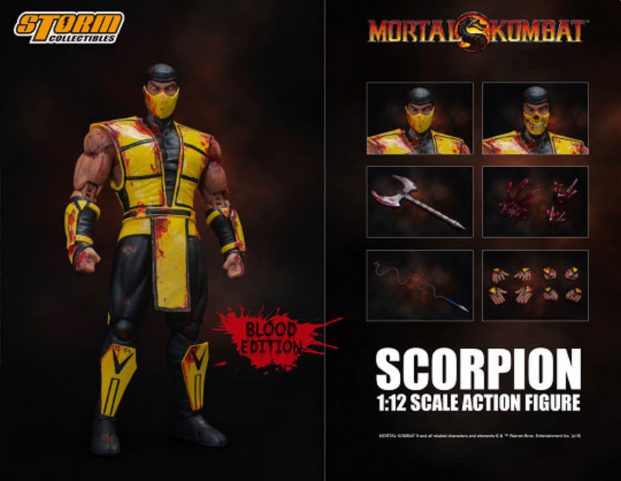 Storm Collectibles Mortal Kombat 3 - Scorpion 1/12 Scale Action Figure (Bloody Ver. - 2019 NYCC Exclusive)