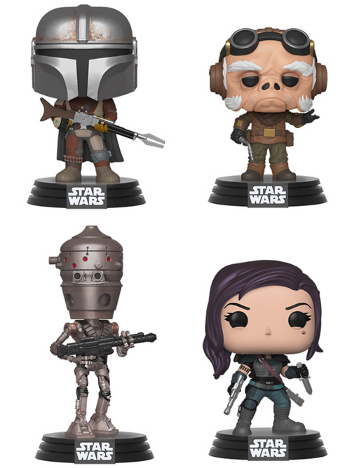 Funko Pop! Star Wars: The Mandalorian (Set of 4)