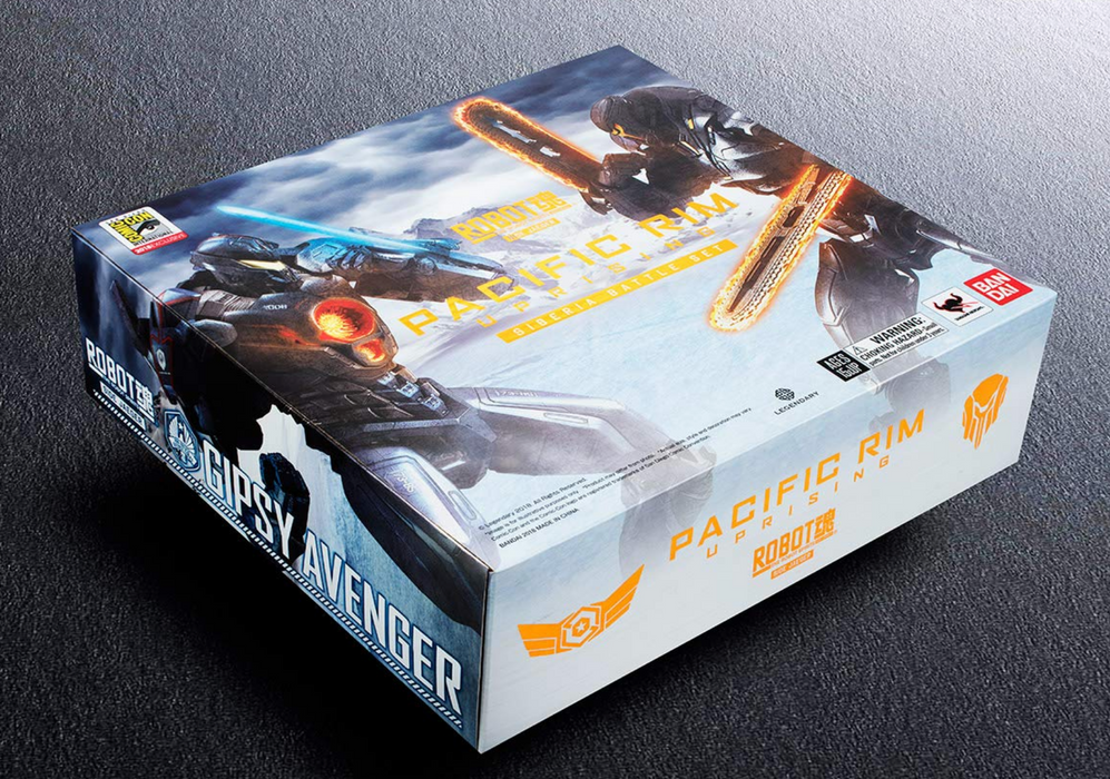 Bandai Tamashii Nations Pacific Rim: Uprising - Obsidian Fury and Gypsy Avenger Action Figure Set (SDCC 2018 Exclusive)