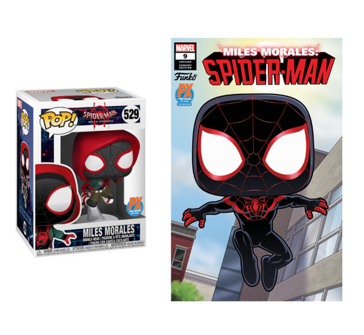 Funko Pop! Marvel: Into the Spider-Verse - Casual Miles Morales (with Limited Edition Comic Bundle)