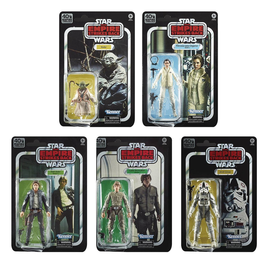 "Star Wars Black Series 6"" Empire Strikes Back 40th Anniversary (Wave 27 - Set of 5)"