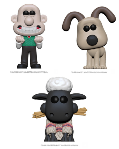 Funko Pop! Animation: Wallace & Gromit (Set of 3)