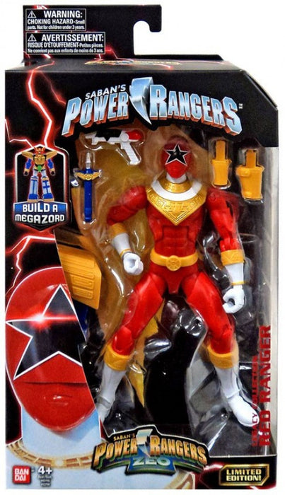"Bandai Power Rangers Zeo Legacy Red Ranger 6"" Action Figure"
