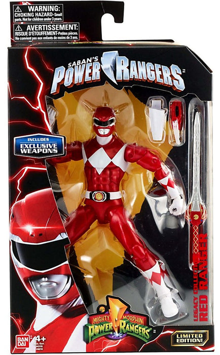 "Bandai Power Rangers Legacy Red Ranger (Metallic Version) 6"" Action Figure"