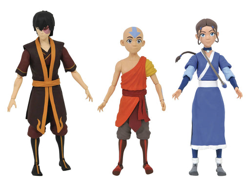 Diamond Select Toys Avatar: The Last Airbender 7-inch Action Figures (Set of 3)