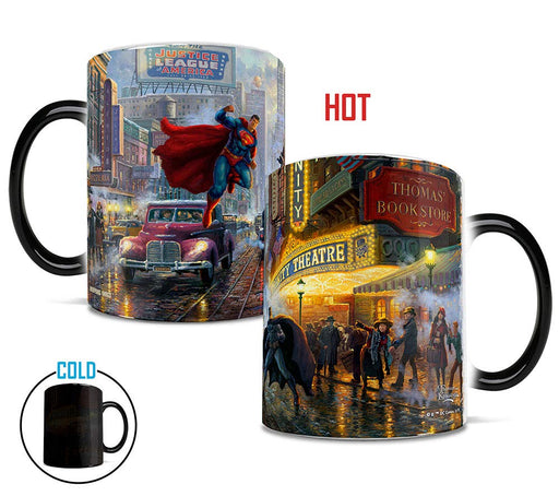 "Morphing Mugs ""Batman, Superman & Wonder Woman"" by Thomas Kinkade Heat-Sensitive Mug"
