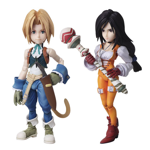 Square Enix Final Fantasy IX Bring Arts Zidane & Garnet Action Figure Set