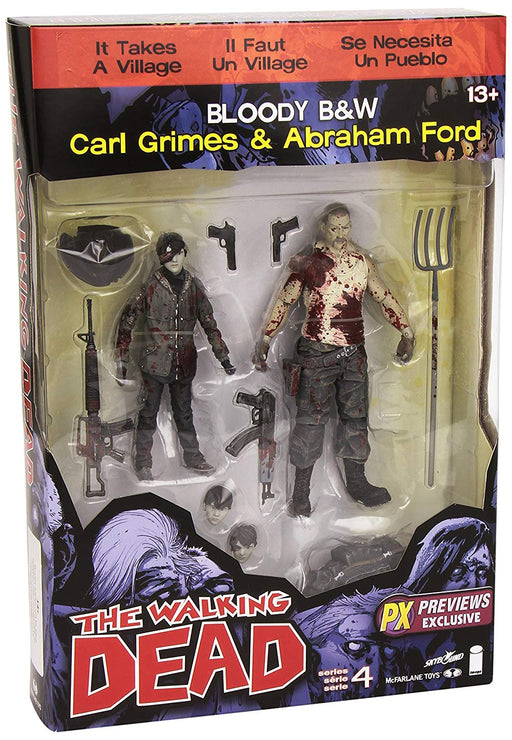 McFarlane Toys The Walking Dead Comic Carl & Abraham Bloody 2-Pack Action Figures