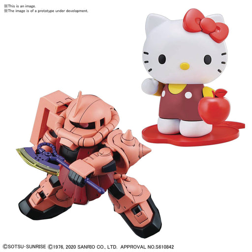 Bandai Spirits Hello Kitty x MS-06S Char's Zaku II Gundam SD-EX Standard Model Kit