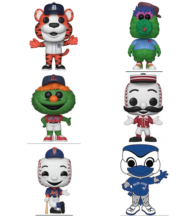 Funko Pop! MLB: Best of Mascots Collection (Set of 6)