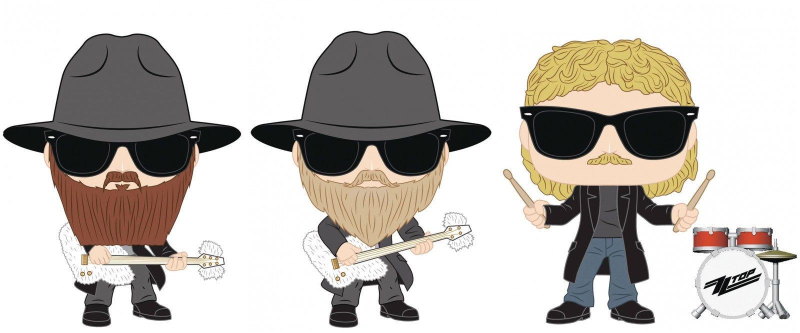 Funko Pop! Rocks: ZZ Top (Set of 3)