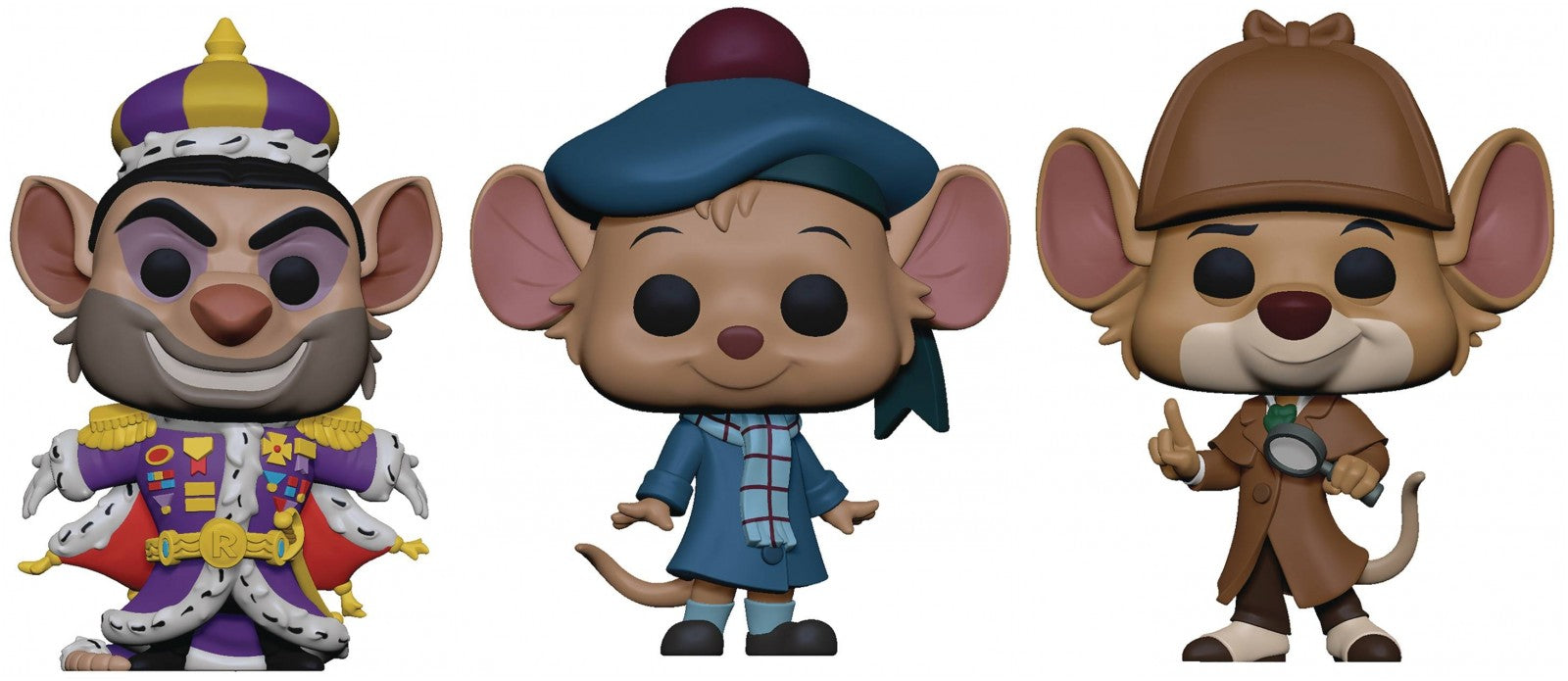 Funko Pop! Disney: The Great Mouse Detective (Set of 3)
