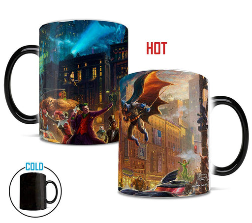 "Morphing Mugs ""The Dark Knight Saves Gotham City"" by Thomas Kinkade Heat-Sensitive Mug"