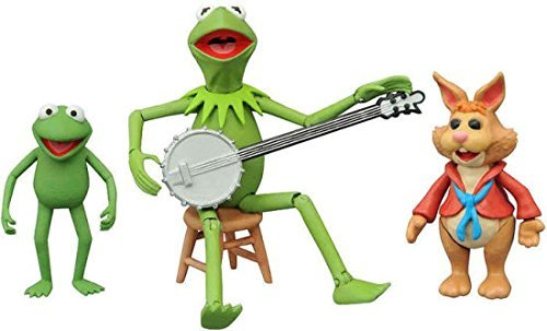 Diamond Select Toys The Muppets: Kermit, Bean & Robin Series 1 Action Figures