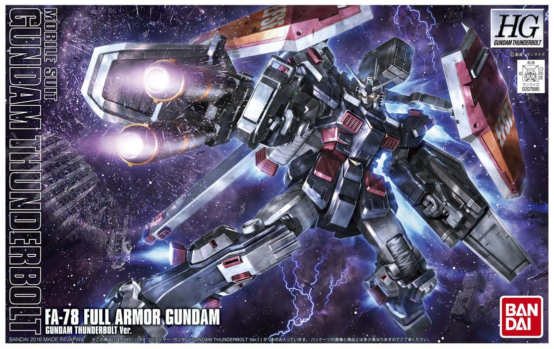 Bandai Hobby Gundam Thunderbolt - FA-78 Full Armor Gundam (Thunderbolt Anime Color Ver.) HG Model Kit