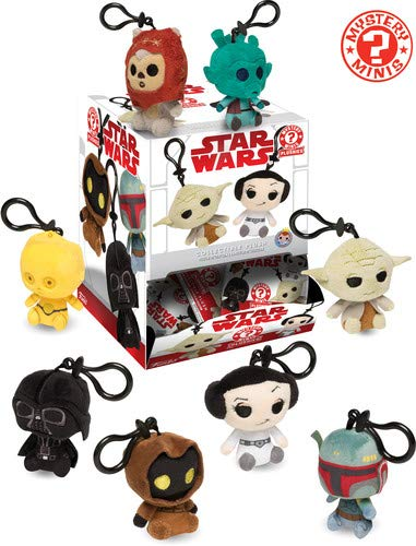 Funko Star Wars Classic Trilogy Mystery Minis Plush Keychains Display (Case  of 18)