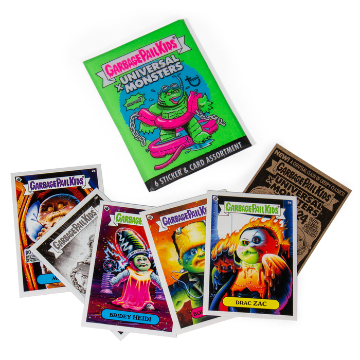 Super 7 Garbage Pail Kids x Universal Monsters Trading Cards Wax Pack