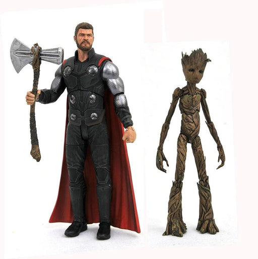 Diamond Select Toys: Marvel Select - Avengers: Infinity War Thor & Groot Action Figure