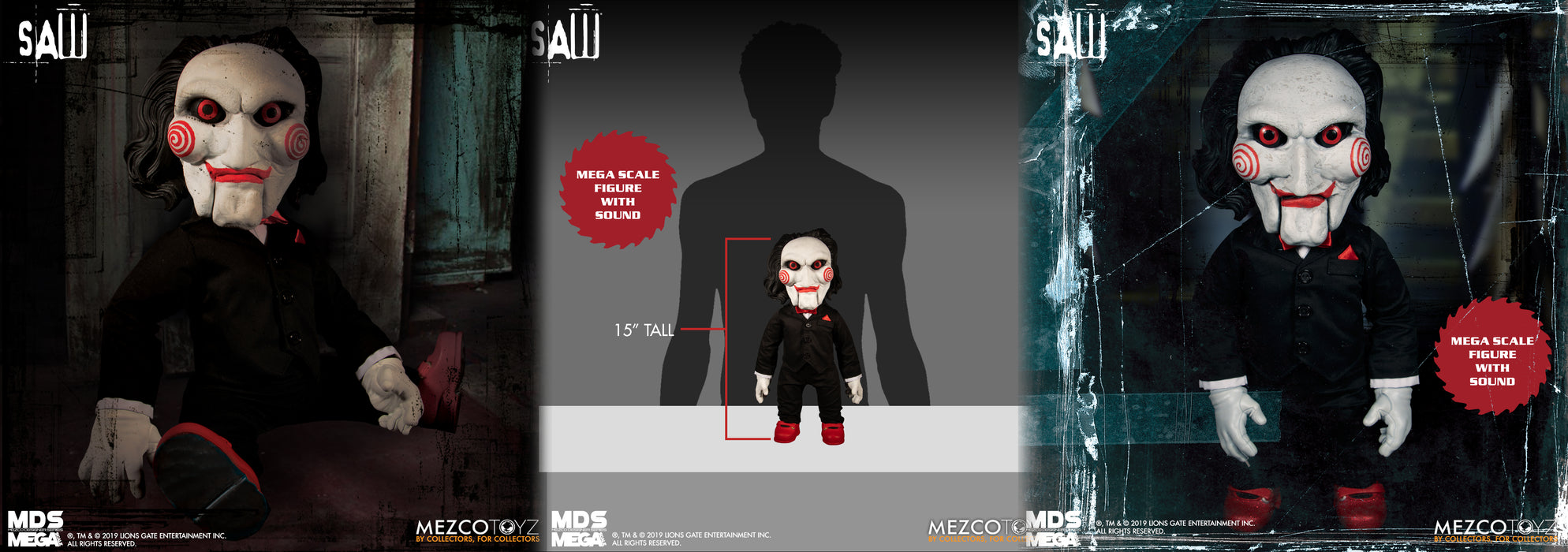 Billy Talking Puppet Mega Scale Saw