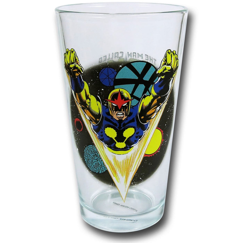 Toon Tumblers Marvel Nova 16 oz Pint Glass