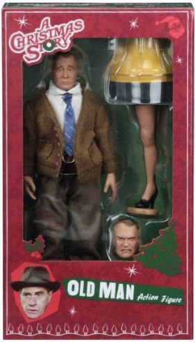 NECA Christmas Story Old Man 8-inch Clothed Action Figure