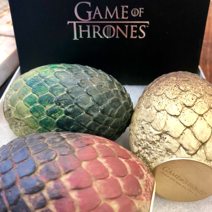 "Game of Thrones Viserion Dragon Egg 3"" Paperweight"