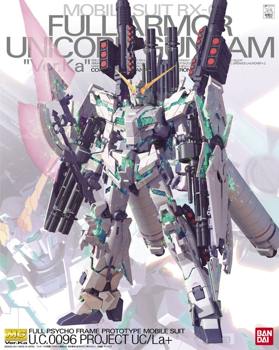 Bandai Hobby Gundam UC - RX-0 Full Armor Unicorn Gundam (Ver. Ka) 1/100 MG Model Kit