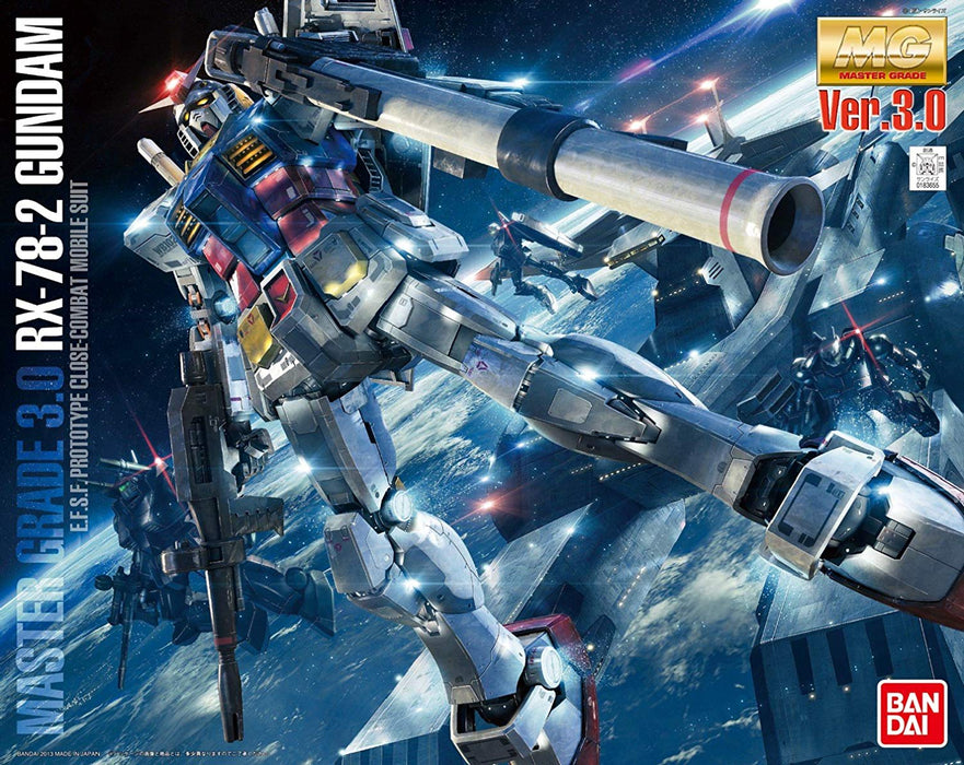 Bandai Hobby Mobile Suit Gundam - RX-78-2 Gundam (Ver. 3.0) 1/100 MG Model Kit