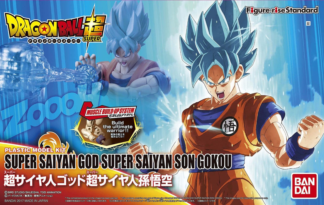 Bandai Hobby Dragon Ball Super Saiyan God Super Saiyan Son Goku Figure-Rise Standard Model Kit