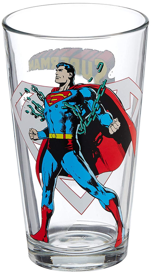 Toon Tumblers DC Comics Superman 16 oz Pint Glass